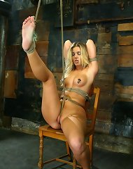 Another new face at Hogtied, Hollie Stevens, first time BDSM