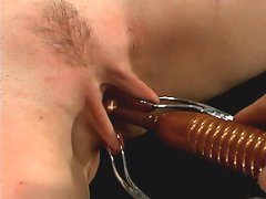 Hard bondage and whipping