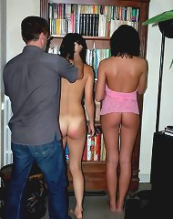 Domestic spanking of two teens