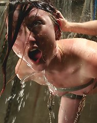Kendra painfully climaxes and is flogged with wet rubber