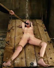 Bound, humiliated in water and tortured