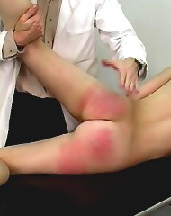 Bare ass spanking action