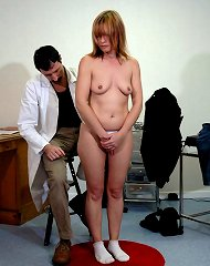 Blonde woman spanked