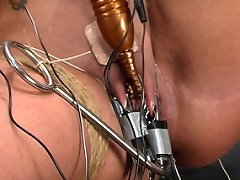 Girl bound and electrified to orgasm